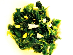 Baby kale is slightly sweet and buttery, so best to keep it simple with fewer companion ingredients. Enjoy!